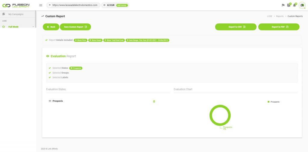 report fuseon link affinity exportado